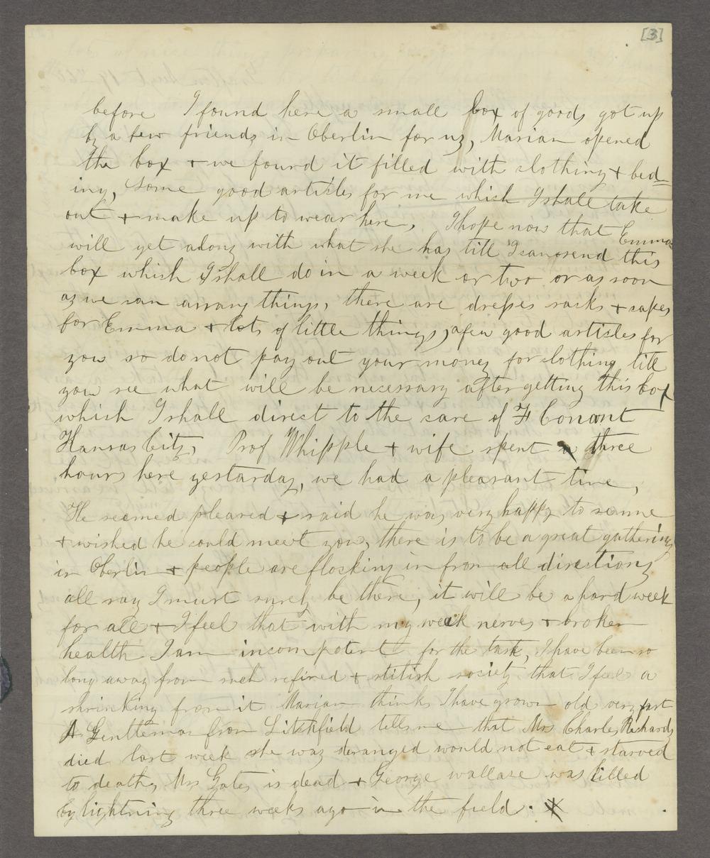 Correspondence between Samuel Lyle Adair, Florella Brown Adair, and their children - 4
