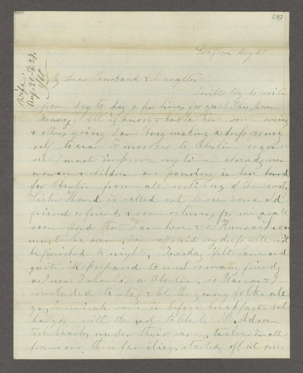 Correspondence between Samuel Lyle Adair, Florella Brown Adair, and their children - 5