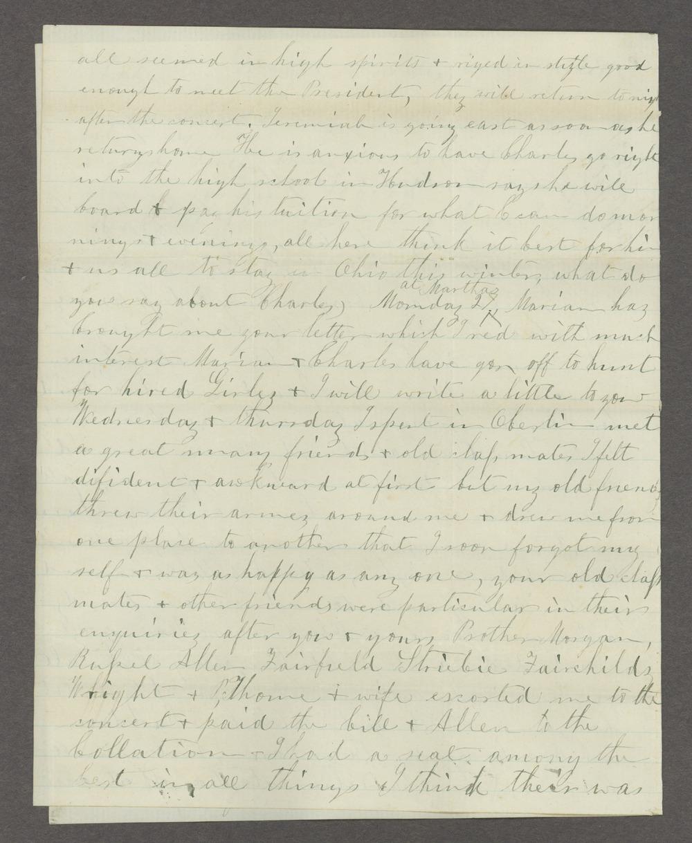 Correspondence between Samuel Lyle Adair, Florella Brown Adair, and their children - 6