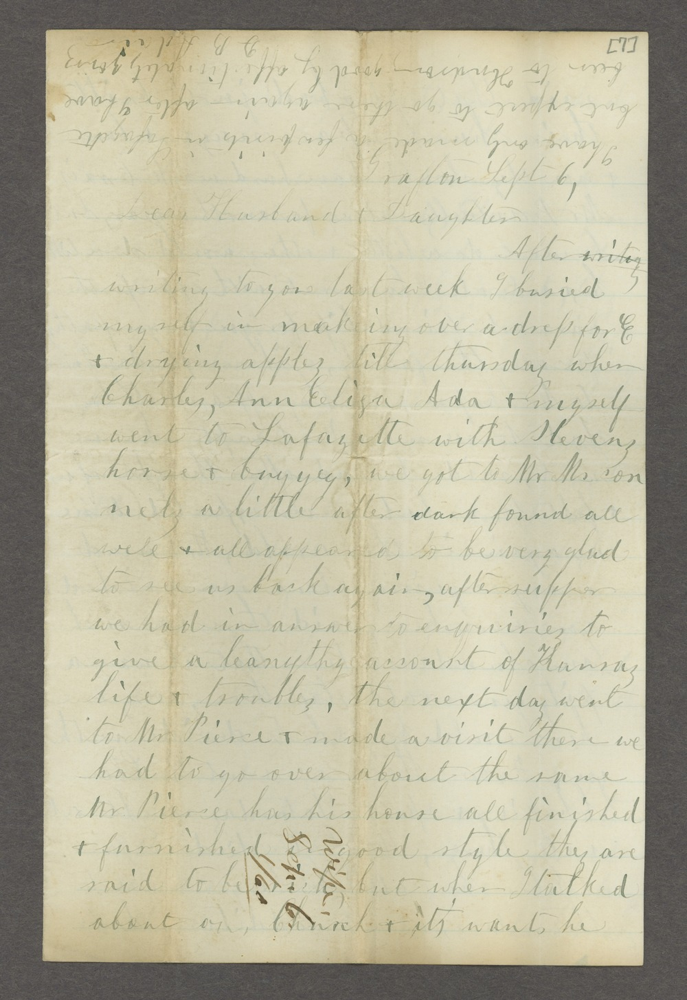 Correspondence between Samuel Lyle Adair, Florella Brown Adair, and their children - 9