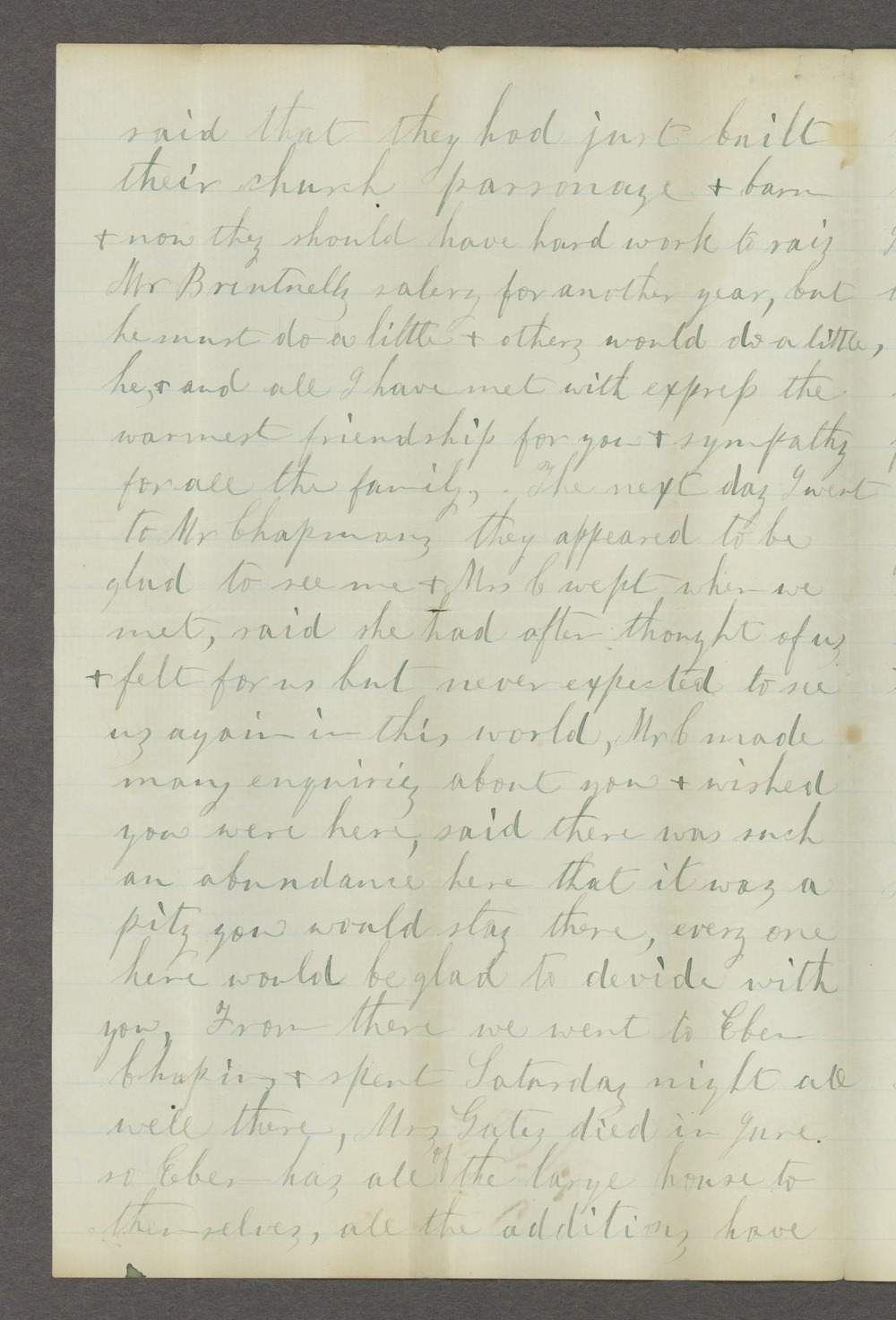 Correspondence between Samuel Lyle Adair, Florella Brown Adair, and their children - 10