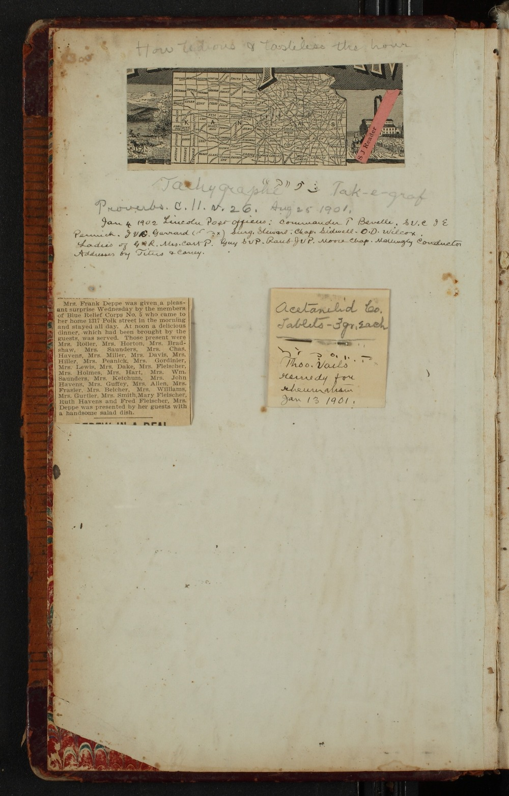 Samuel Reader's diary, volume 14 - First page