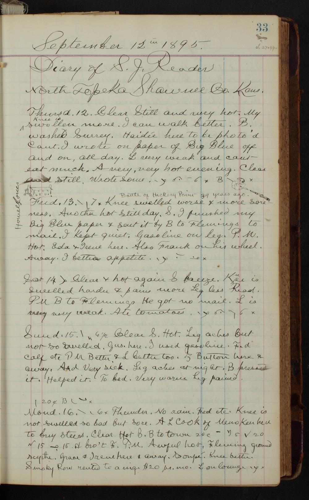 Samuel Reader's diary, volume 14 - 33