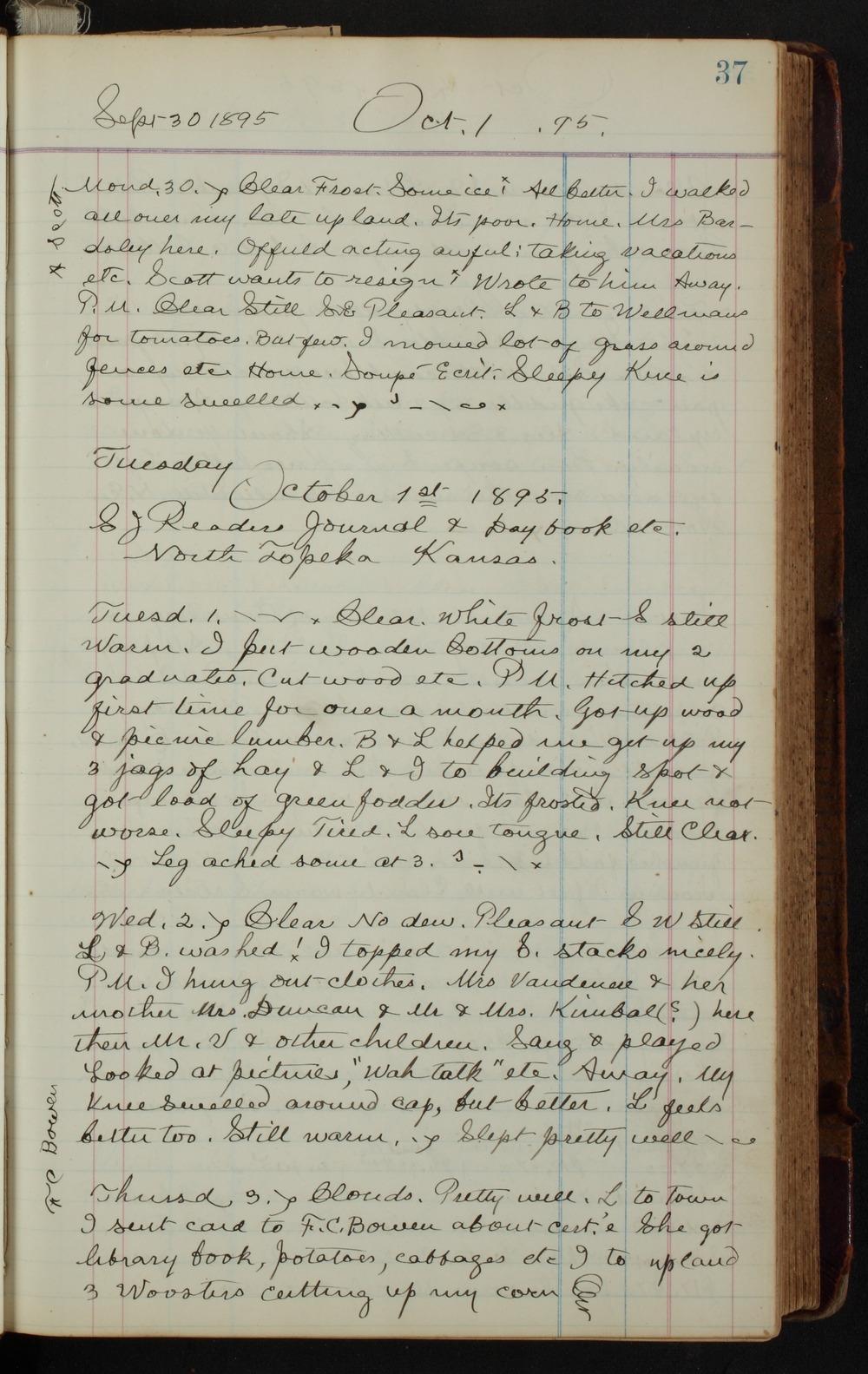 Samuel Reader's diary, volume 14 - 37