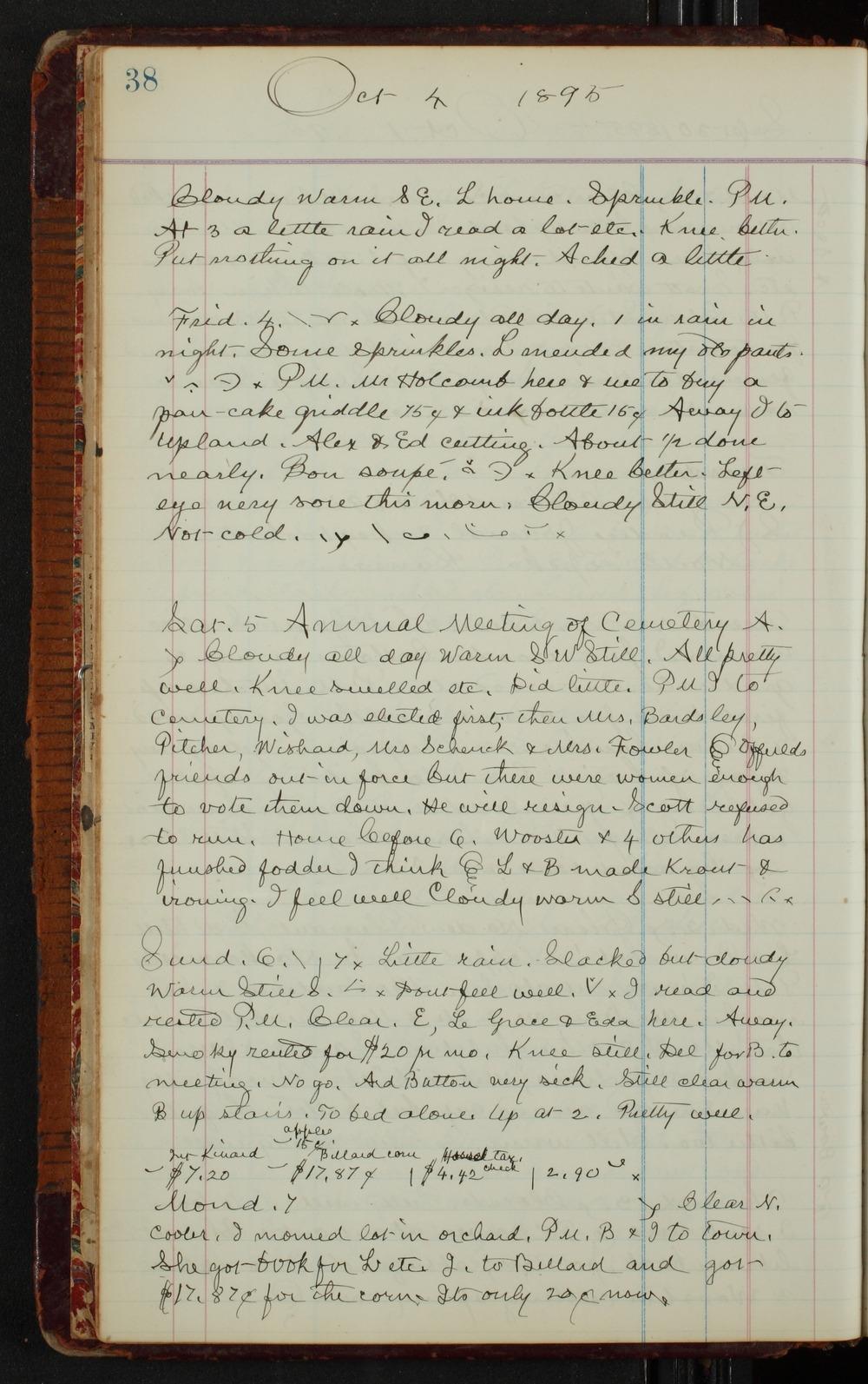 Samuel Reader's diary, volume 14 - 38