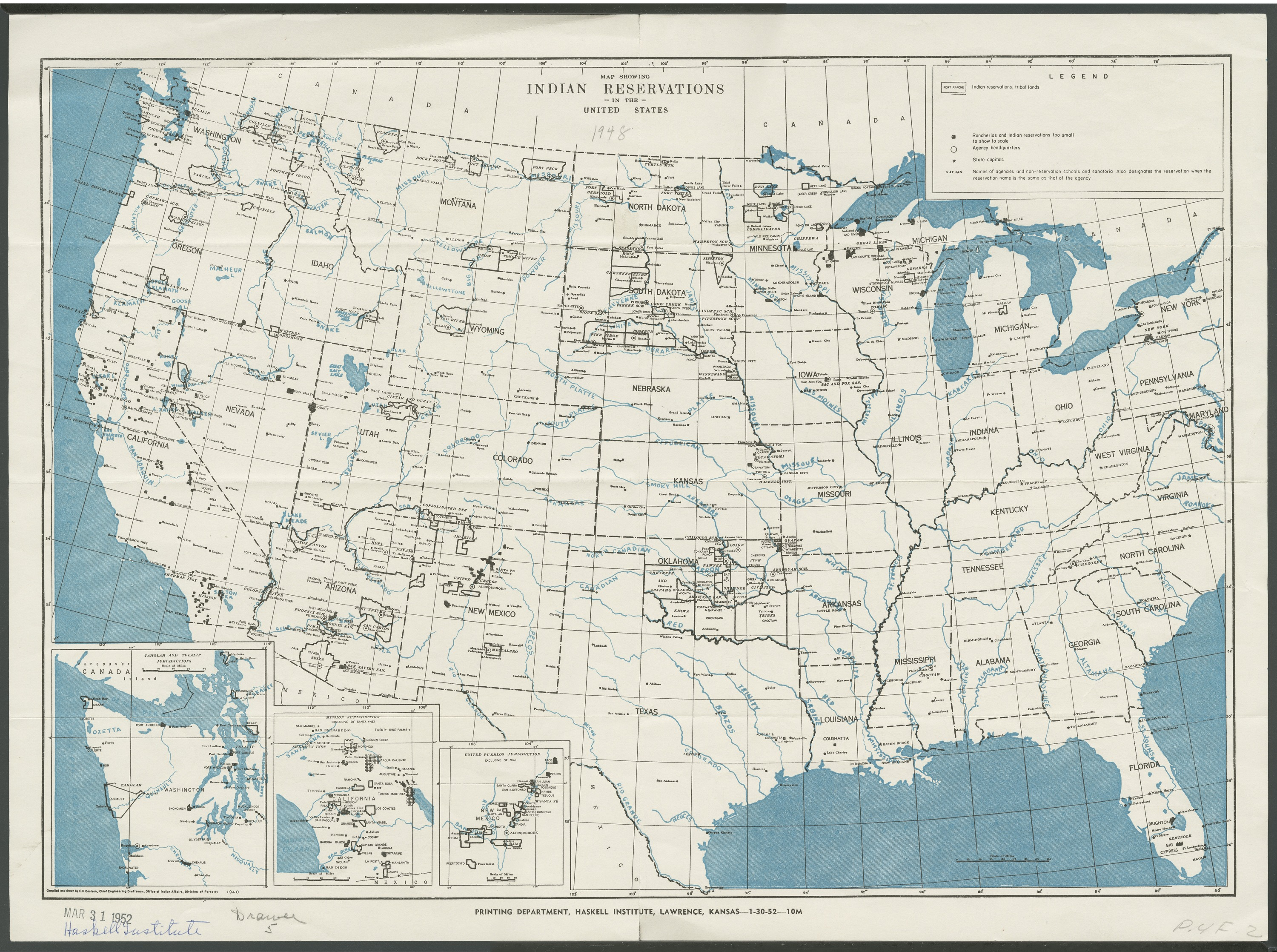 Map Showing Indian Reservations In The United States Kansas - Map of us indian reservations