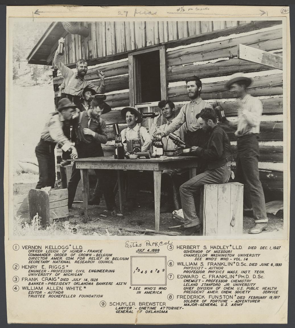 William Allen White with friends in Estes Park, Colorado