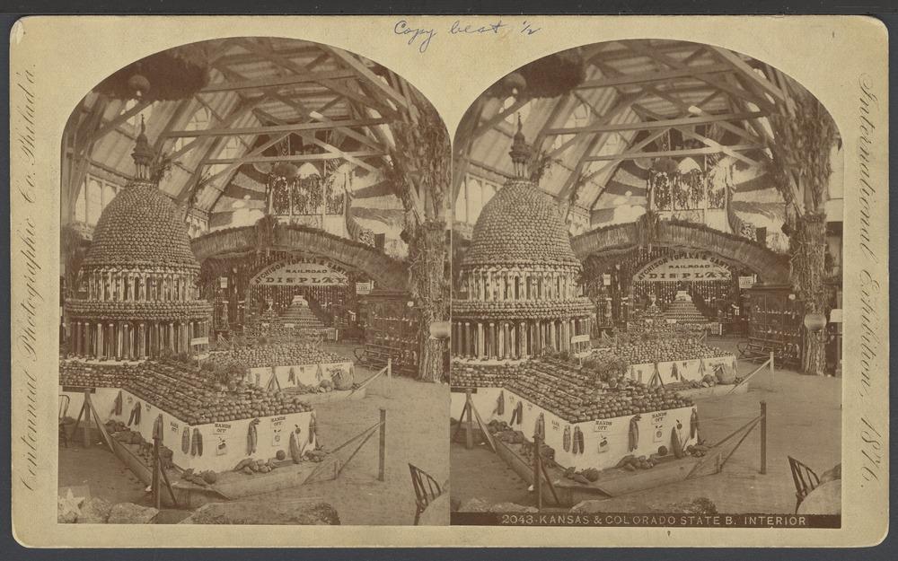 Kansas State Exhibit, Philadelphia, Pennsylvania - 1