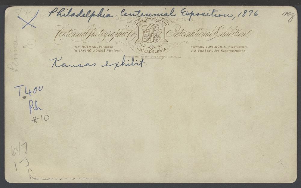 Kansas State Exhibit, Philadelphia, Pennsylvania - 2