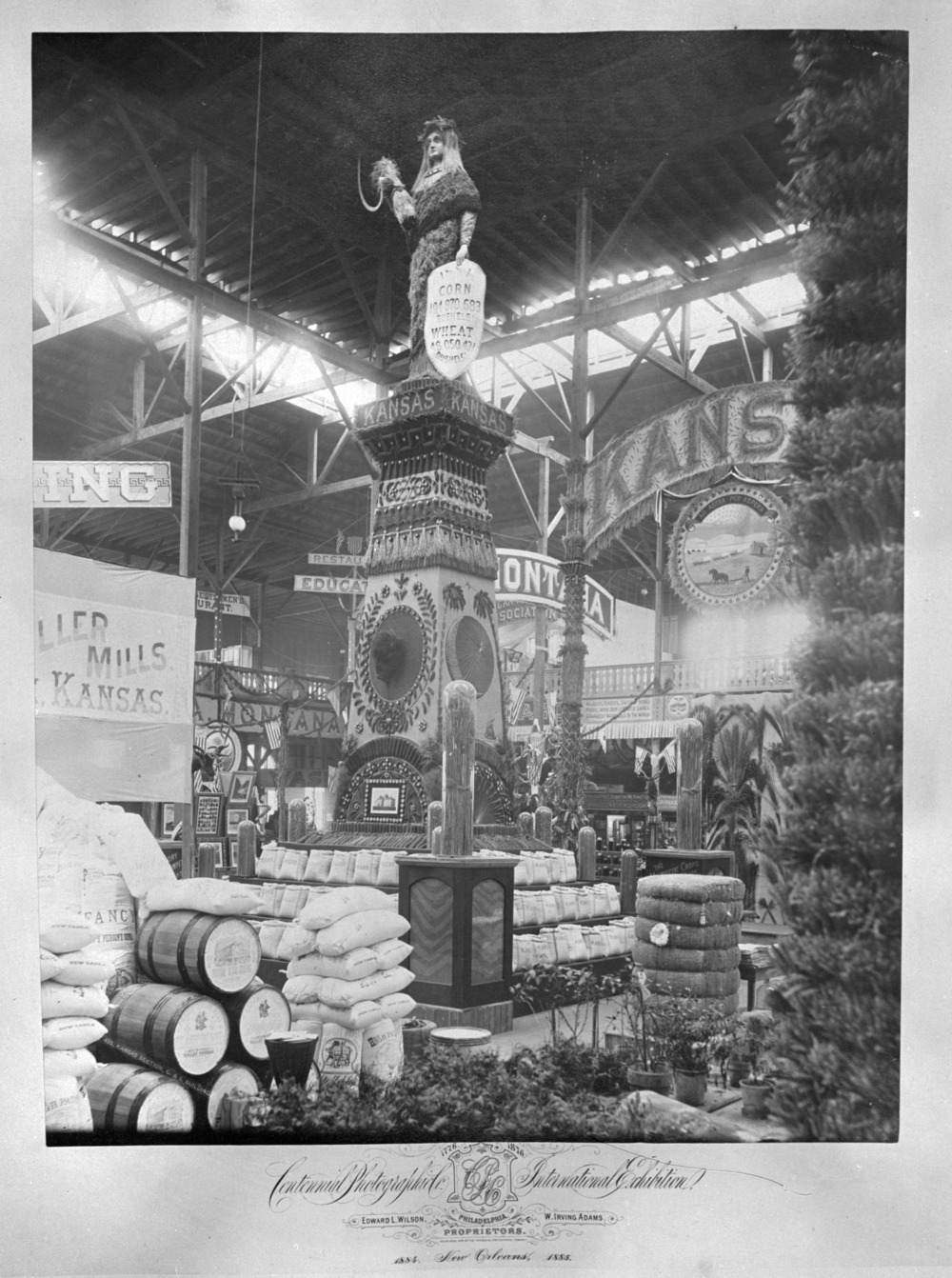 Kansas Exhibit, New Orleans Cotton Centennial