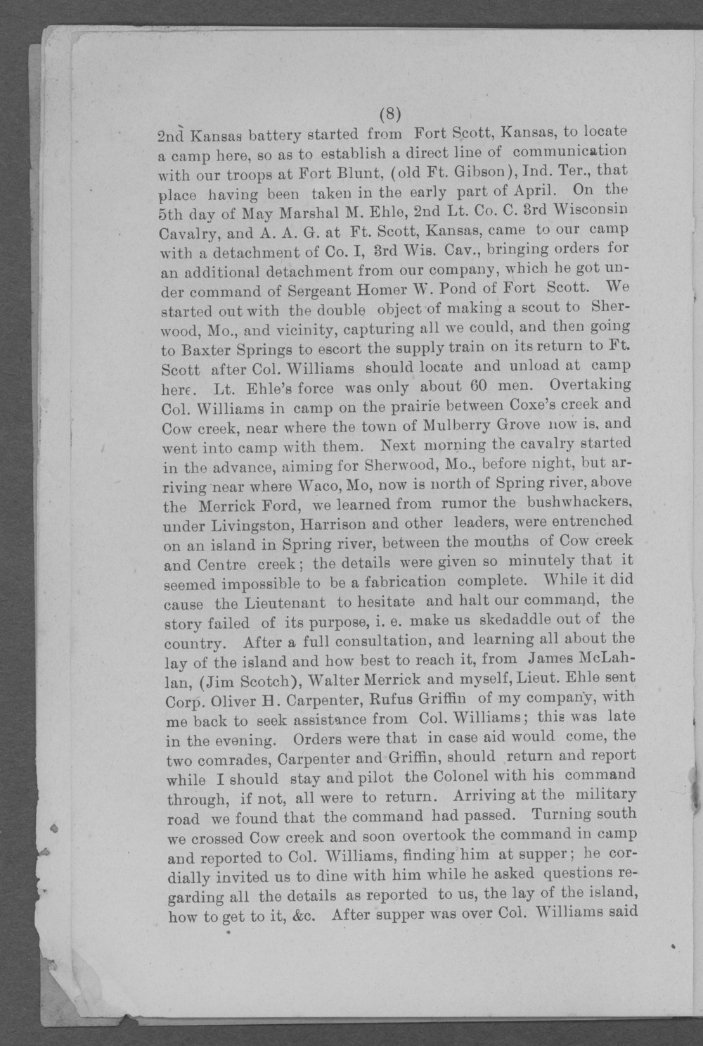 Baxter Springs as a military post - Page 8