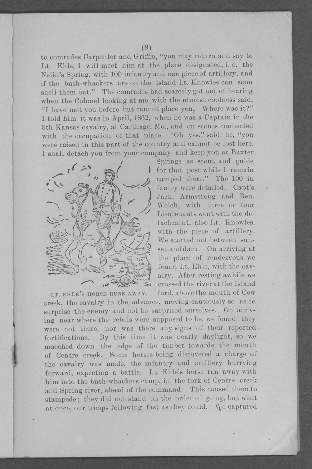 Baxter Springs as a military post - Page 9