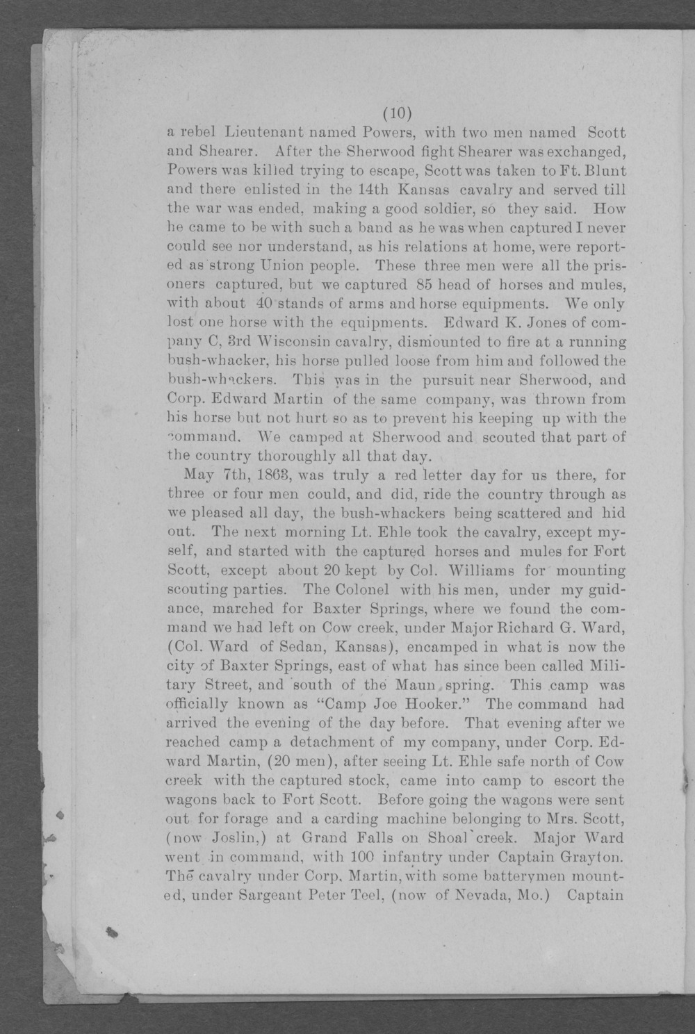 Baxter Springs as a military post - Page 10