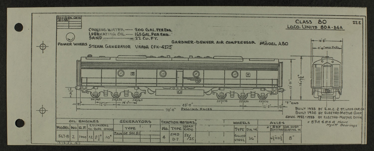 Atchison, Topeka and Santa Fe diesel engine diagrams and blueprints - 11