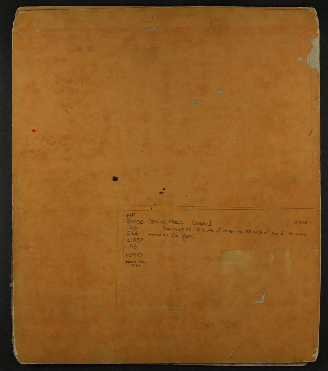 Shawnee Indian reservation plat maps of 1854 - 4
