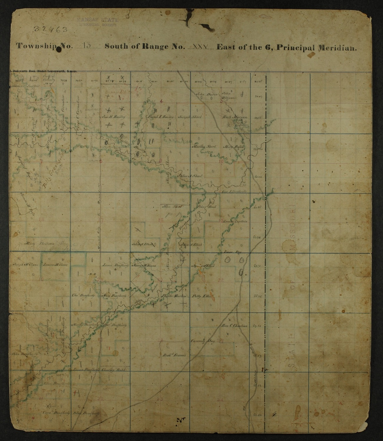 Shawnee Indian reservation plat maps of 1854 - 27