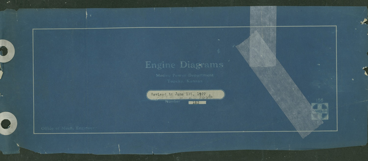 Atchison, Topeka and Santa Fe steam engine diagrams and blueprints - 1