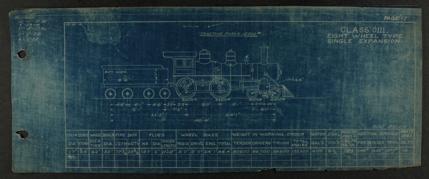 Atchison, Topeka and Santa Fe steam engine diagrams and blueprints - 6