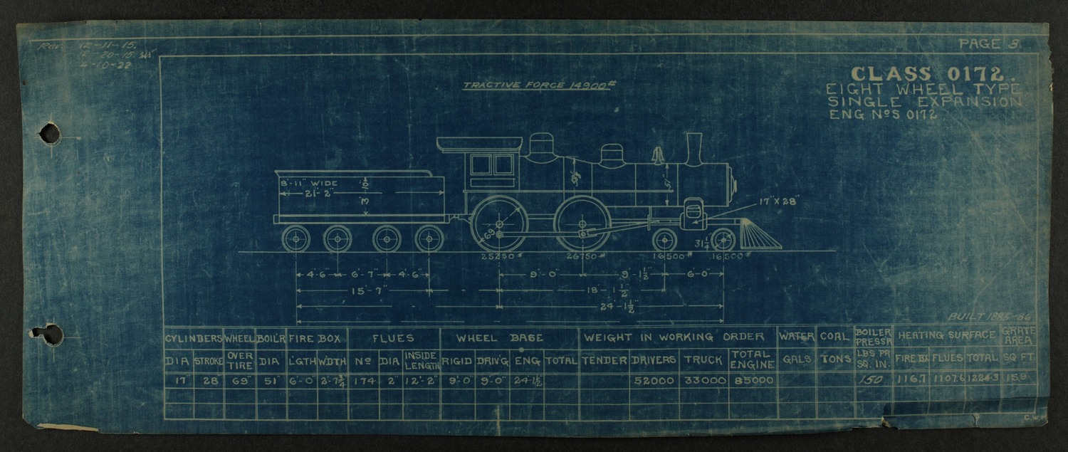 Atchison, Topeka and Santa Fe steam engine diagrams and blueprints - 7