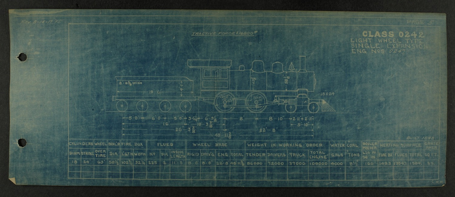 Atchison, Topeka and Santa Fe steam engine diagrams and blueprints - 9
