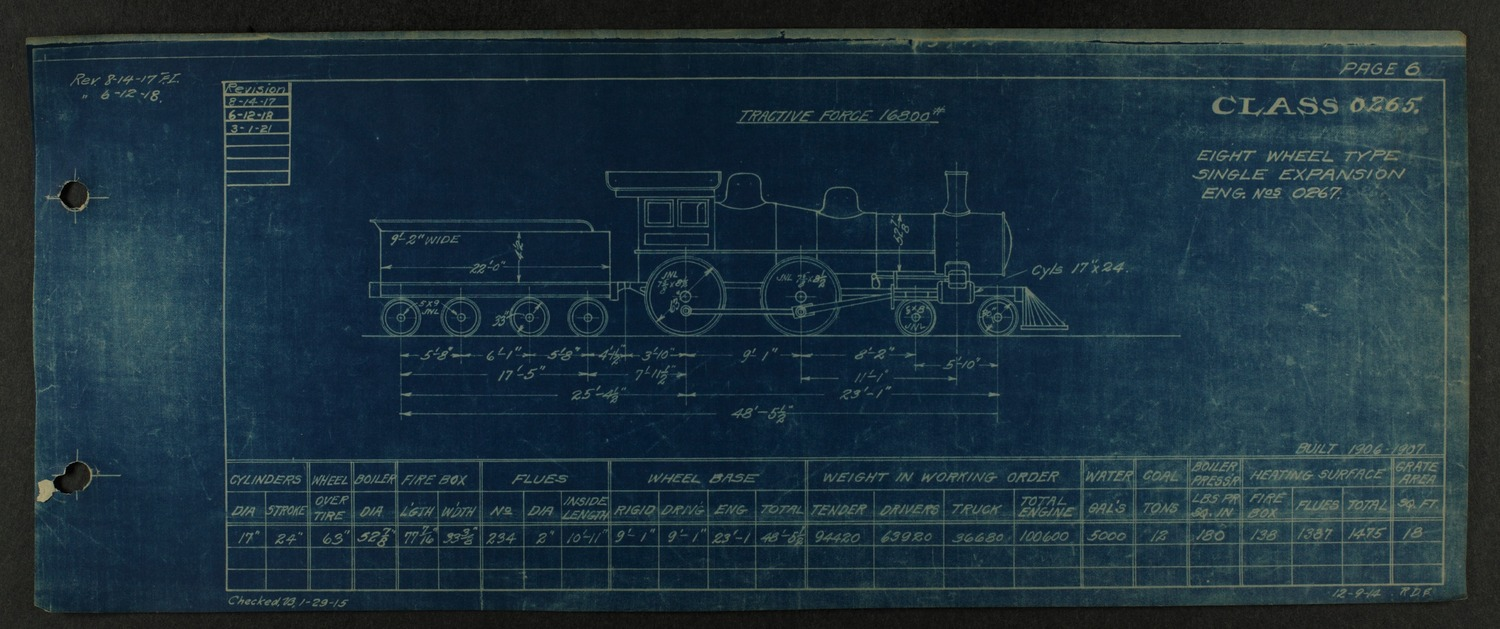 Atchison, Topeka and Santa Fe steam engine diagrams and blueprints - 10