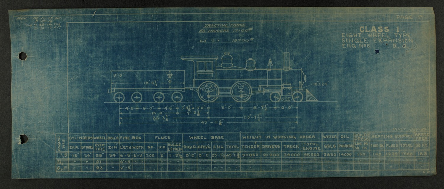Atchison, Topeka and Santa Fe steam engine diagrams and blueprints - 11