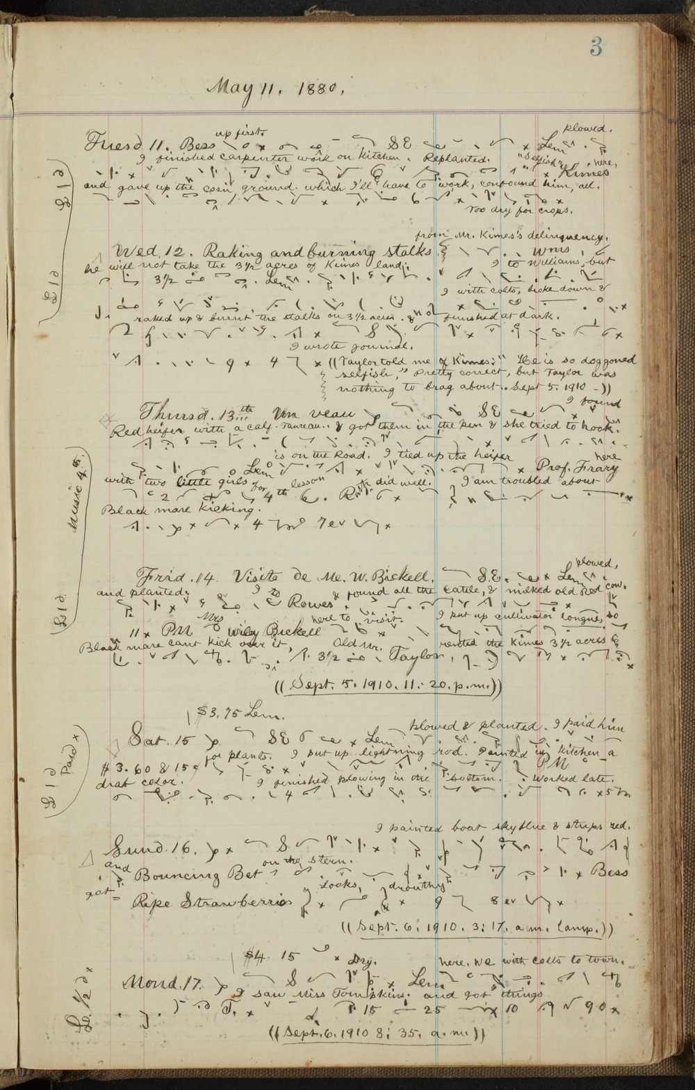 Samuel Reader's diary, volume 10 - 3
