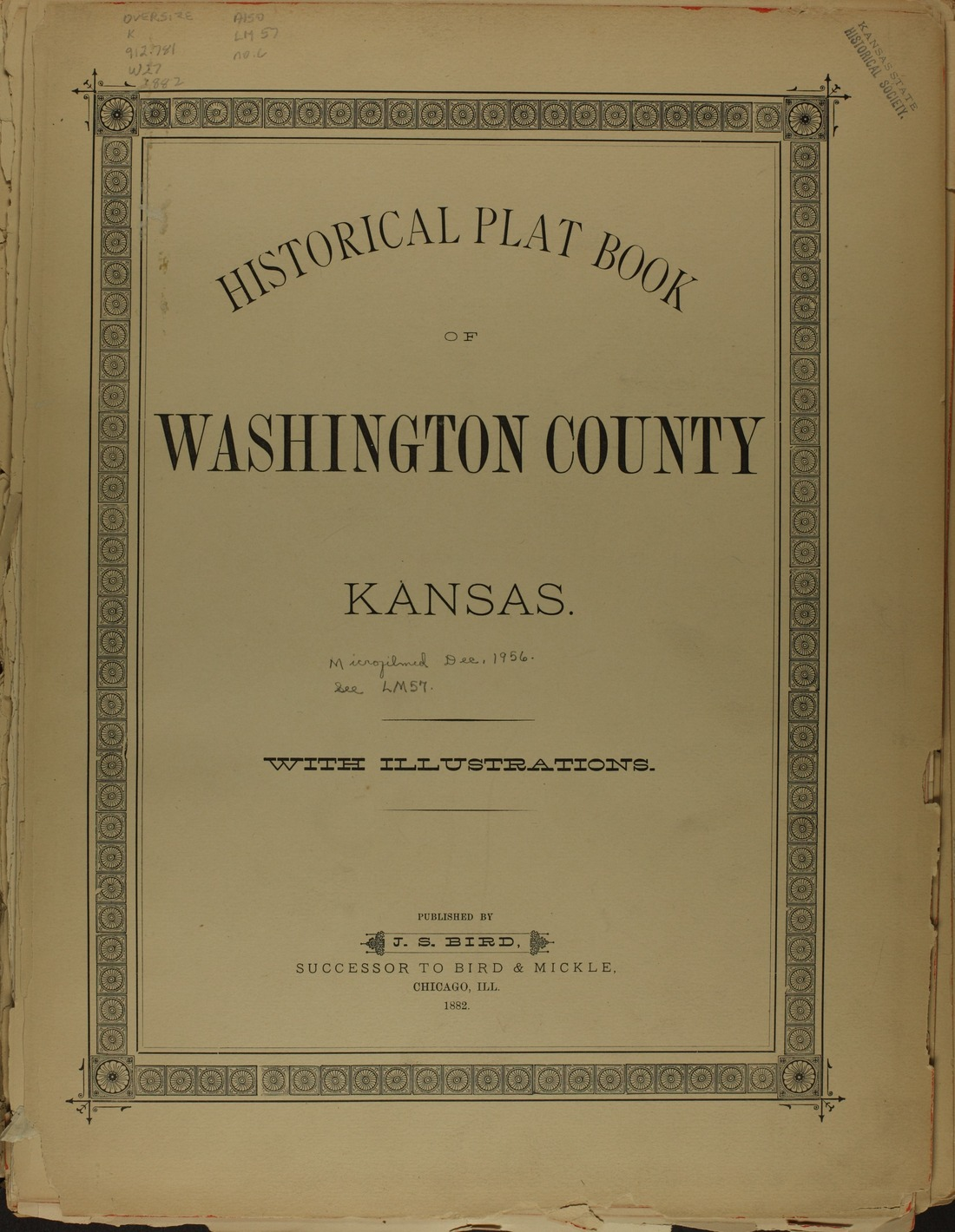 Historical plat book of Washington County, Kansas - Title page