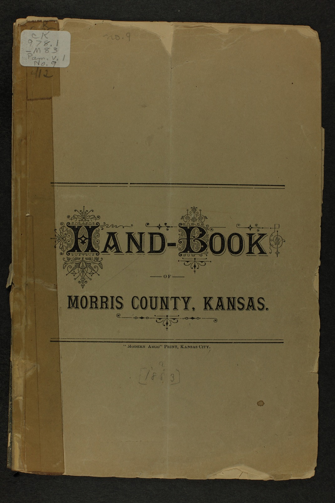 Handbook of Morris County, Kansas - Title page