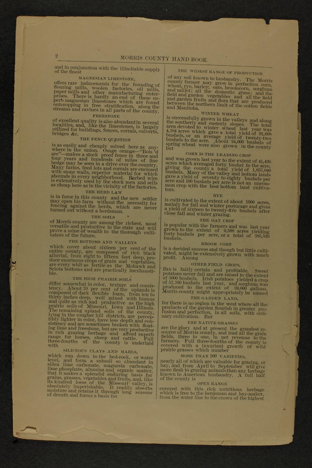 Handbook of Morris County, Kansas - 2