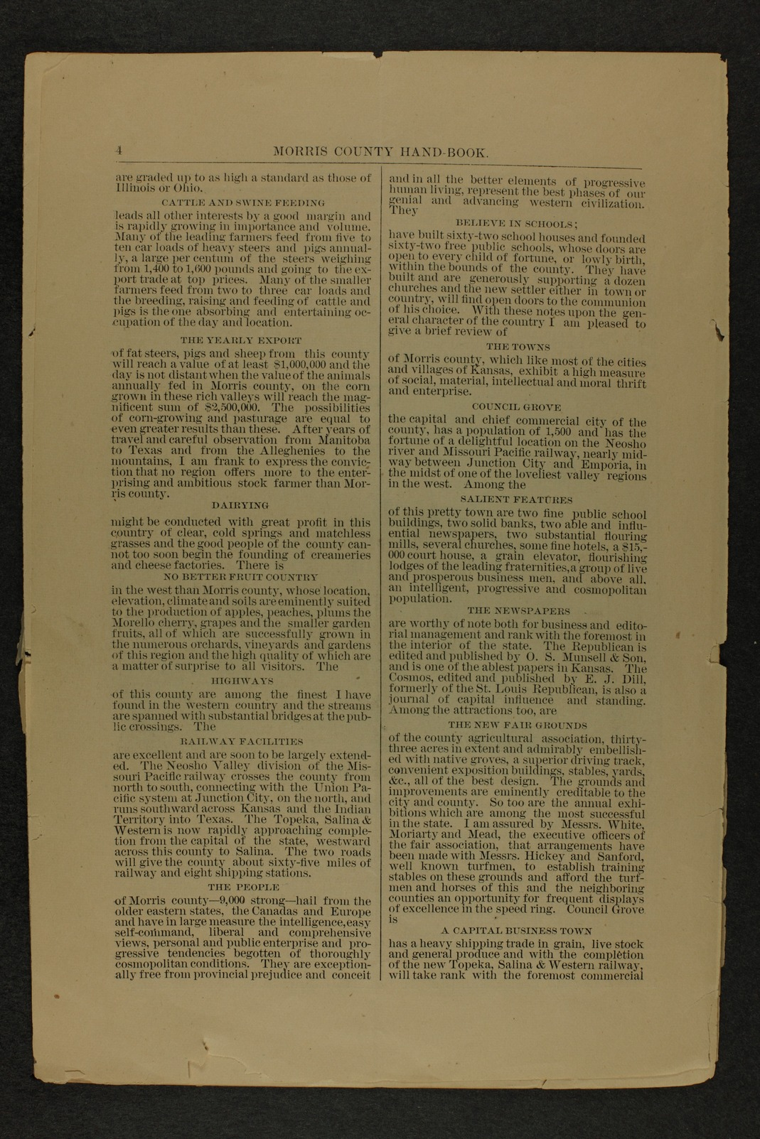 Handbook of Morris County, Kansas - 4