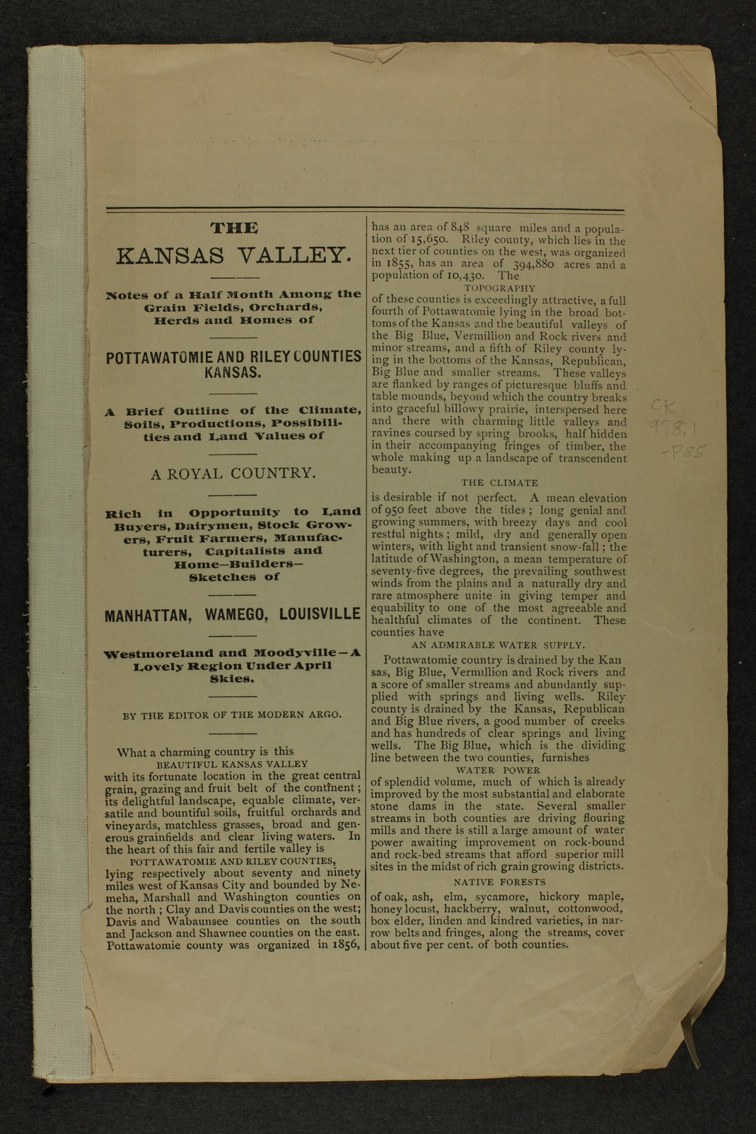 Handbook of Pottawatomie and Riley Counties, Kansas - page 1
