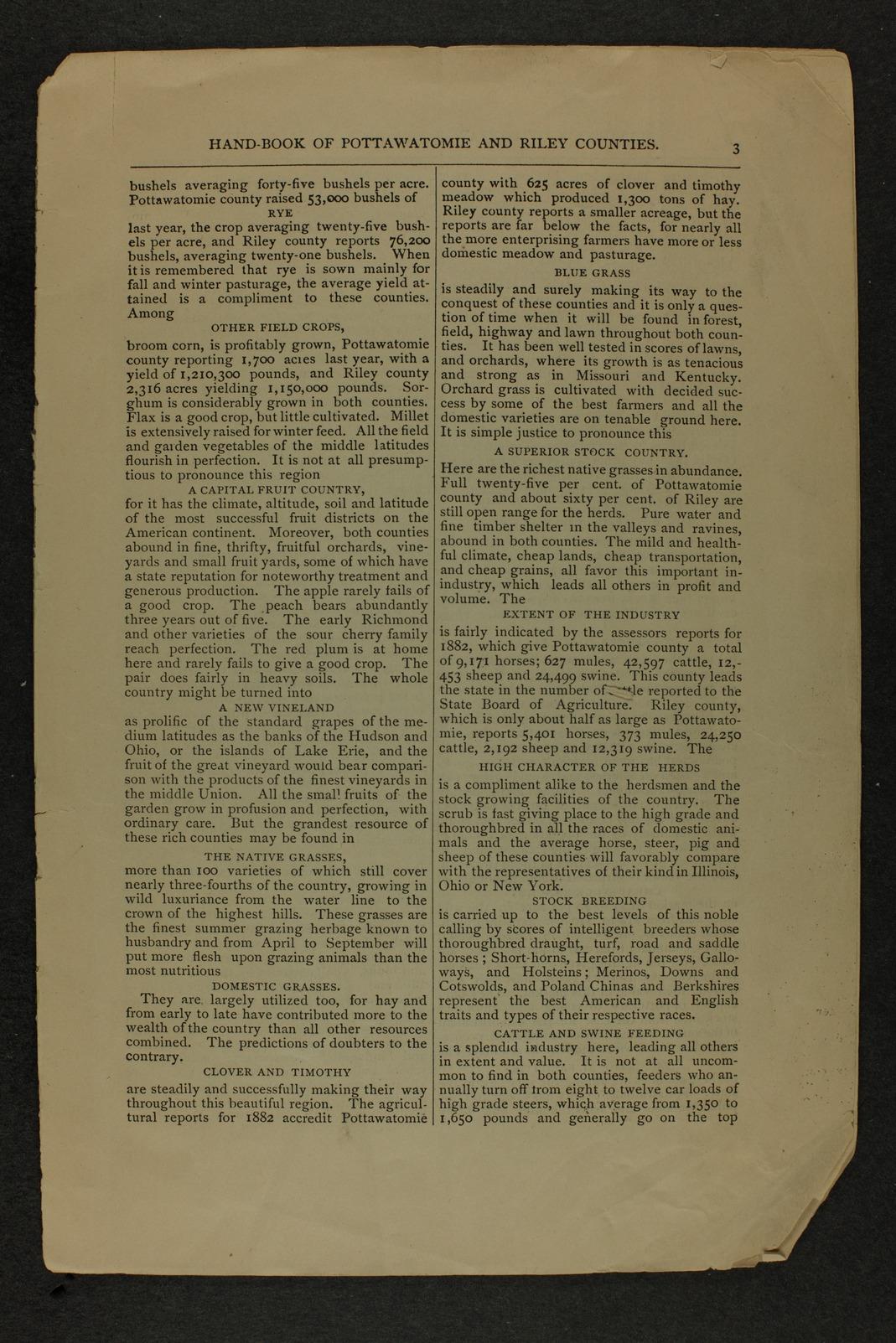 Handbook of Pottawatomie and Riley Counties, Kansas - page 3