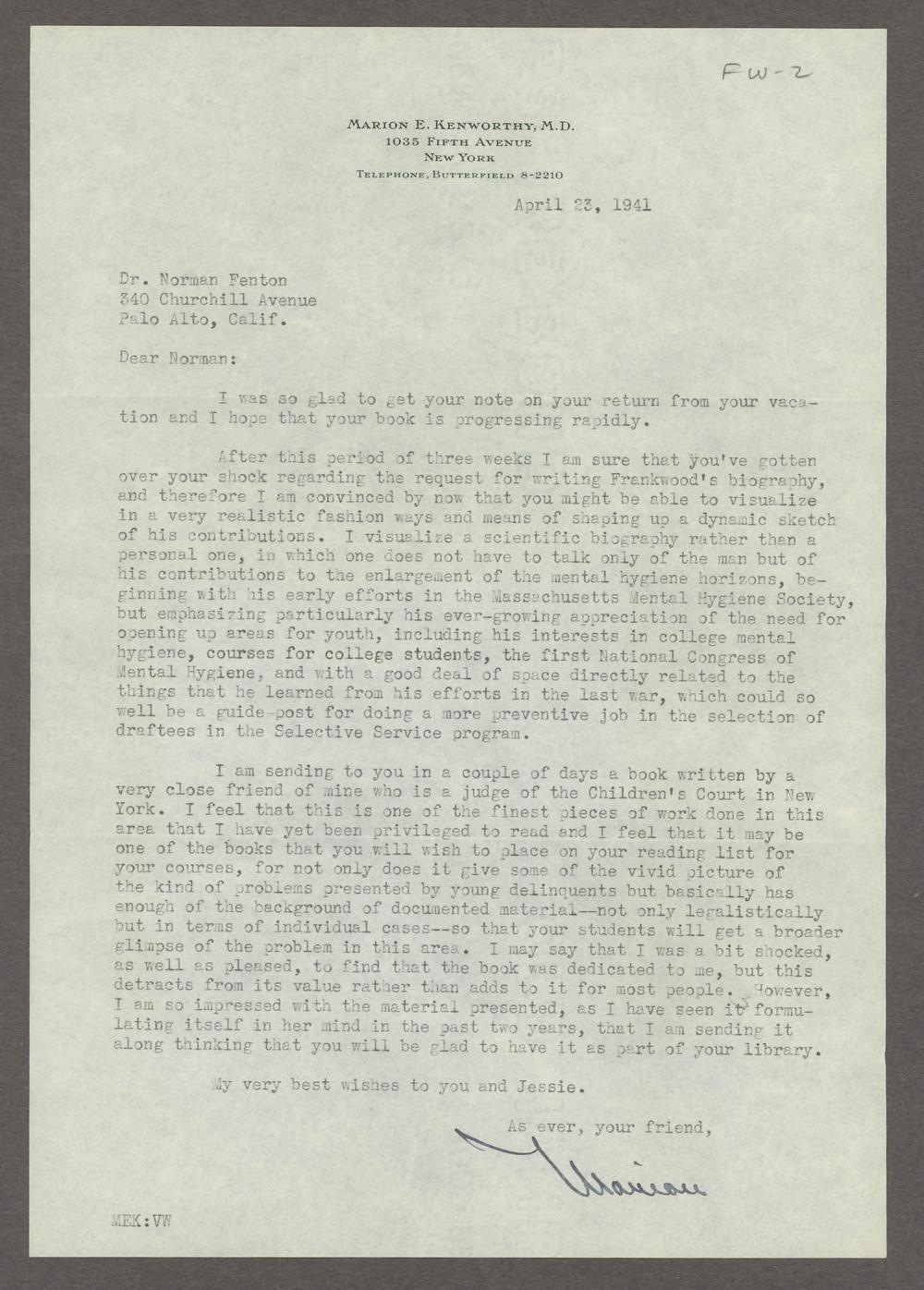 Frankwood E. Williams Papers - 6