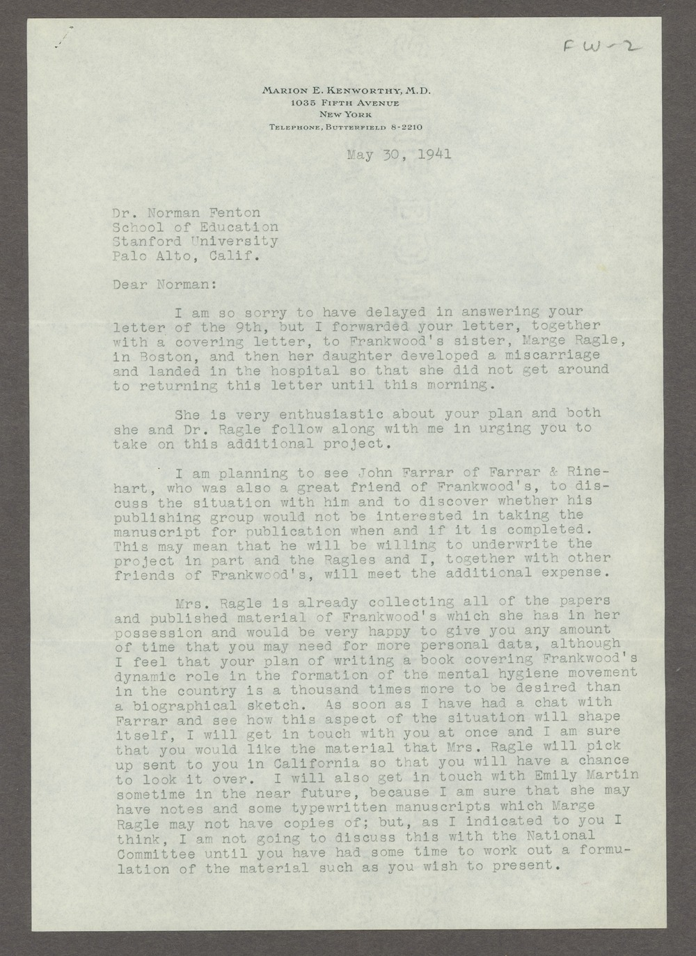 Frankwood E. Williams Papers - 8