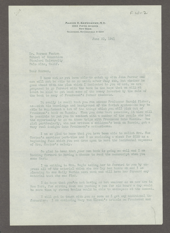 Frankwood E. Williams Papers - 10