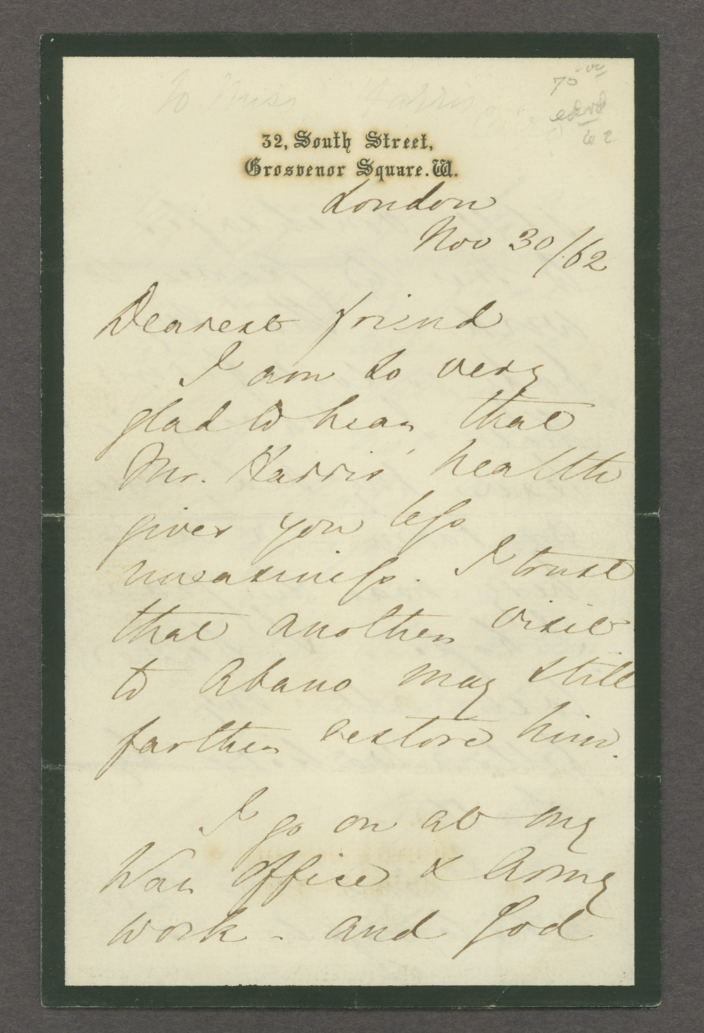 Florence Nightingale correspondence - 1 [Box 1 Folder 5]