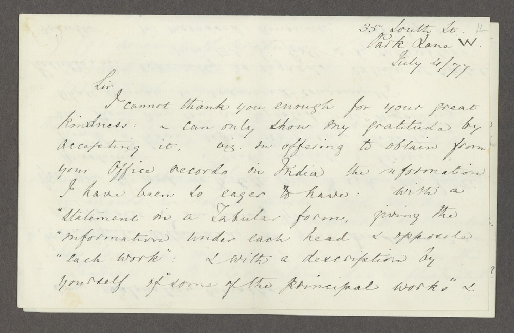 Florence Nightingale correspondence - 1 [Box 1 Folder 6]