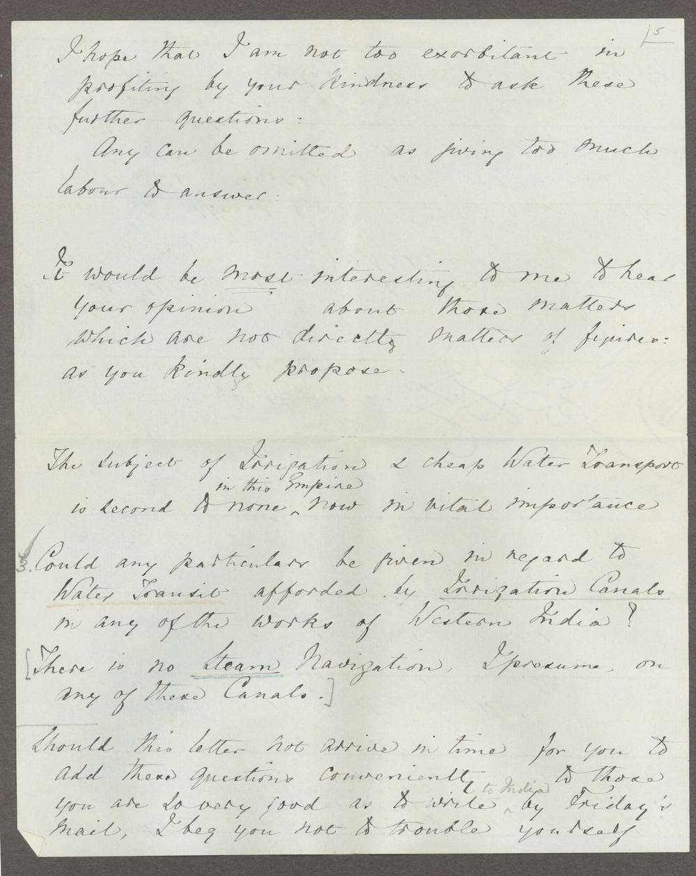 Florence Nightingale correspondence - 5