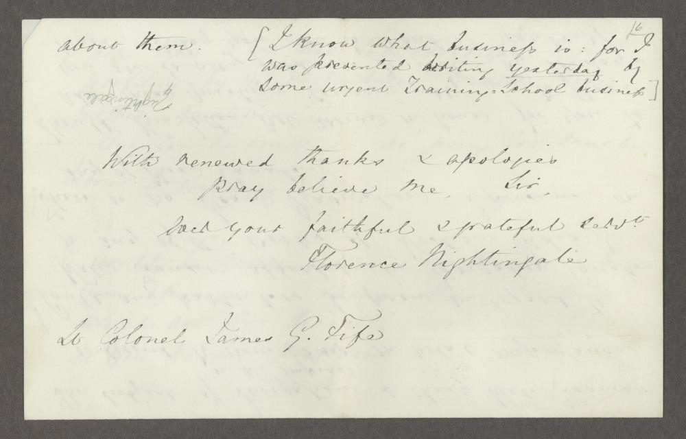 Florence Nightingale correspondence - 6