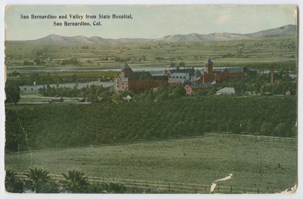 Postcards from various state hospitals - San Bernardino State Hospital, California.