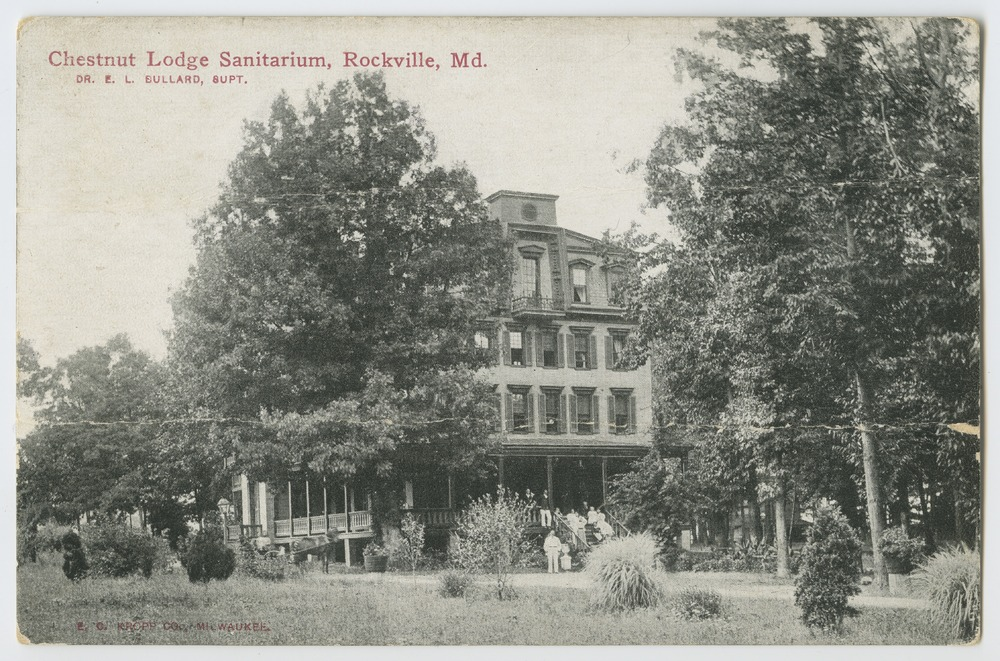 Postcards from various state hospitals - Chestnut Lodge Sanitarium, Rockville, Maryland.