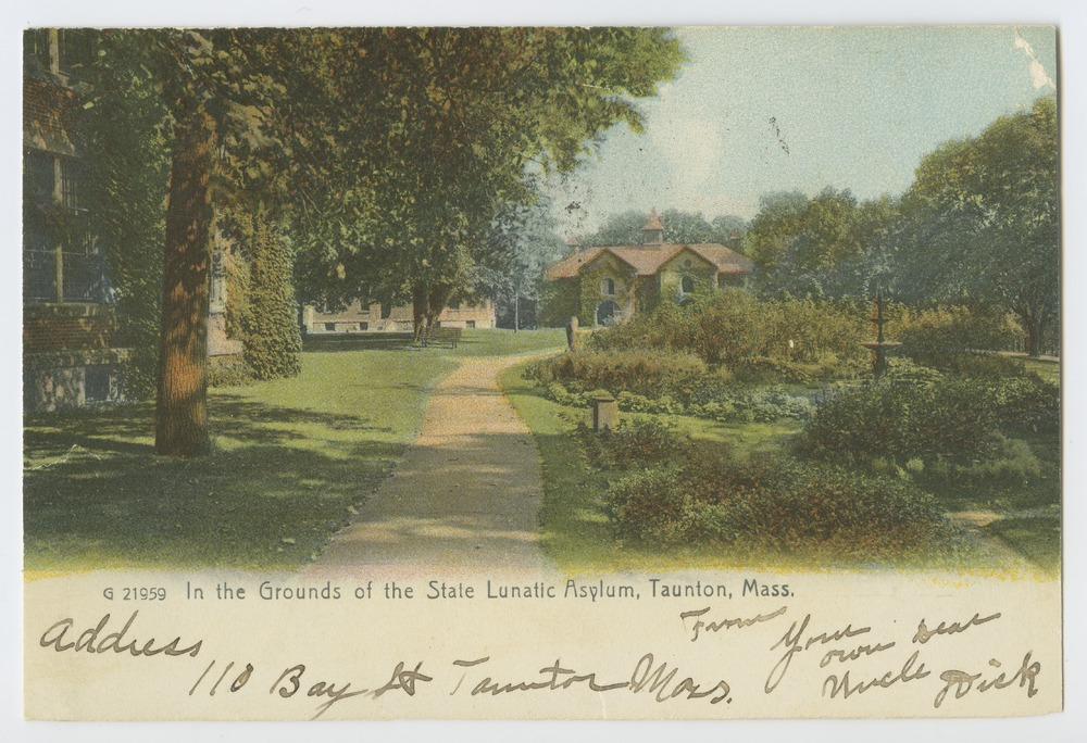 Postcards from various state hospitals - State Lunatic Asylum, Taunton, Massachusetts.