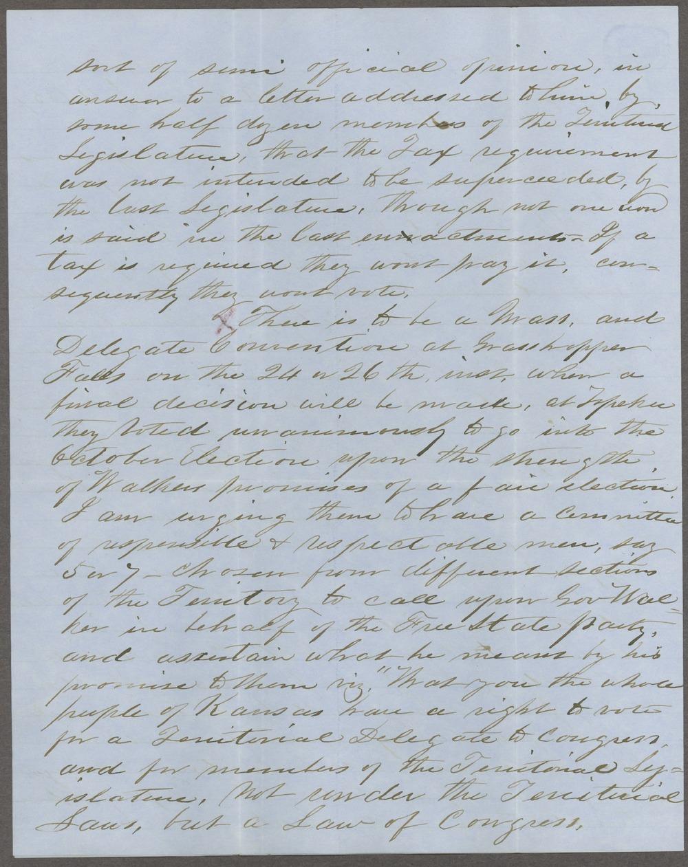 Thomas J. Marsh to George L. Stearns - 2