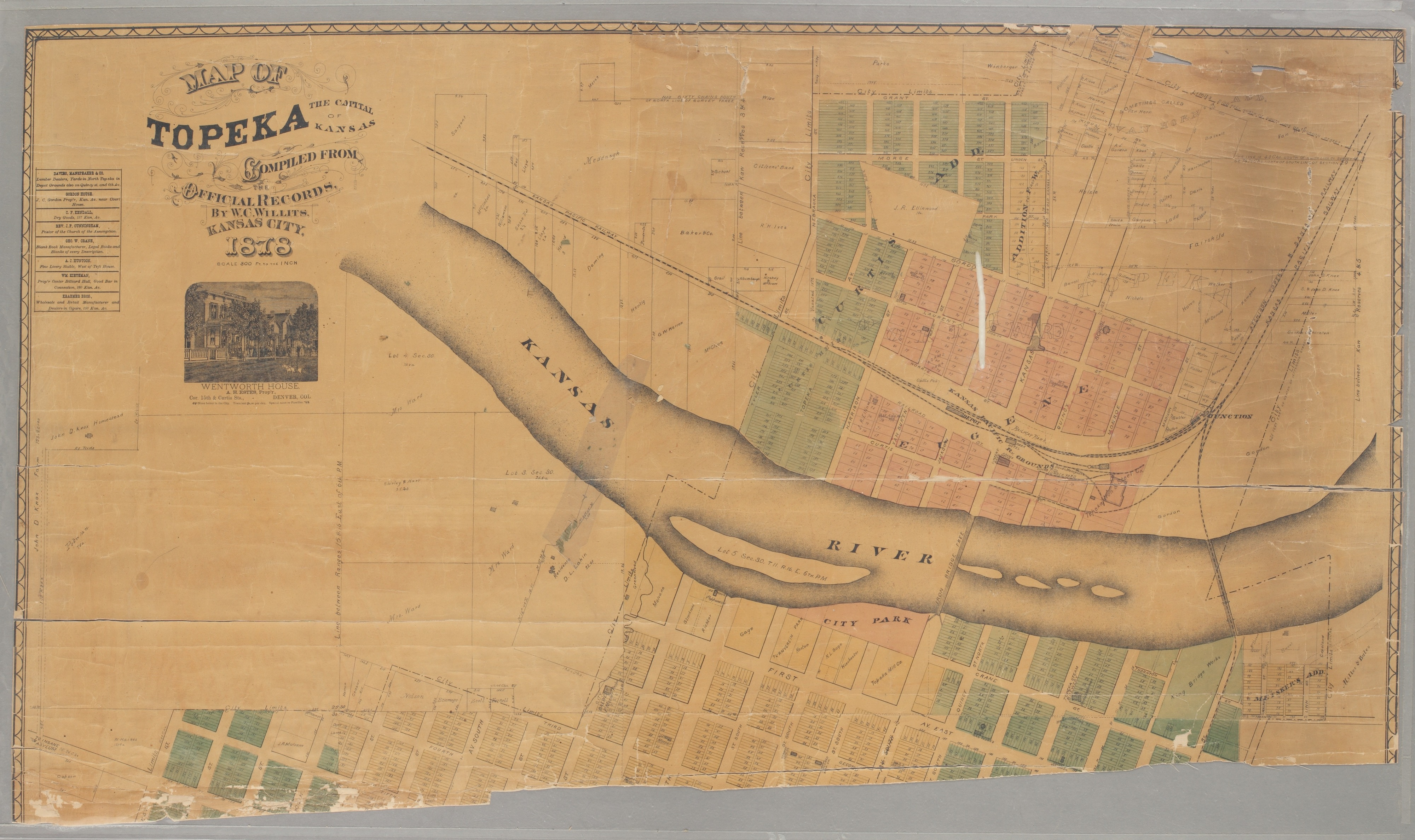 Map of Topeka. The capital of Kansas - 1