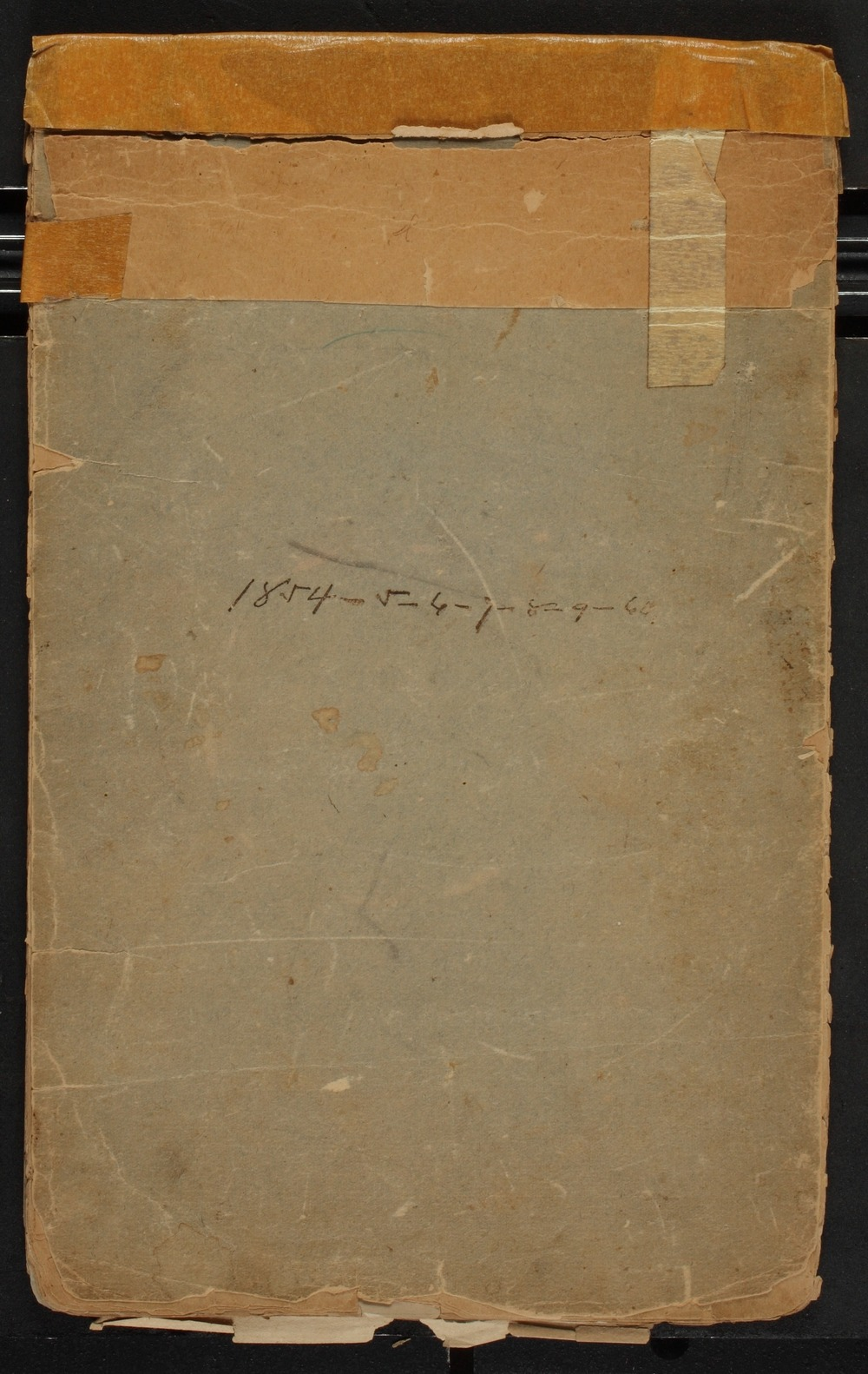 Reuben Smith diaries - Front Cover [1854-1860]