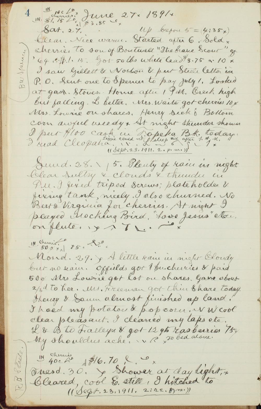 Samuel Reader's diary, volume 13 - 4