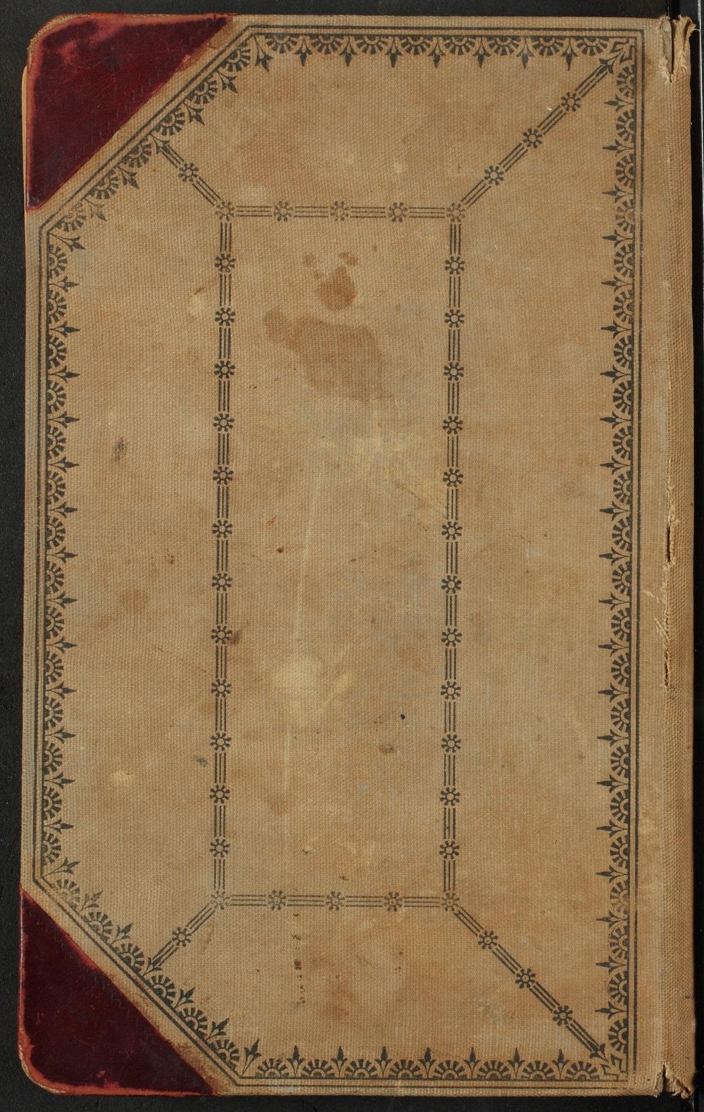 Samuel Reader's diary, volume 13 - Back Cover