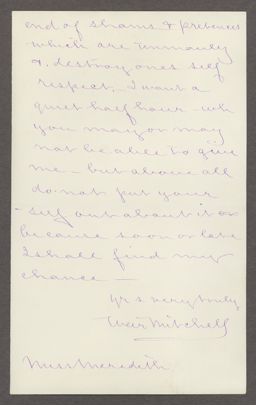 Silas Weir Mitchell papers - 2