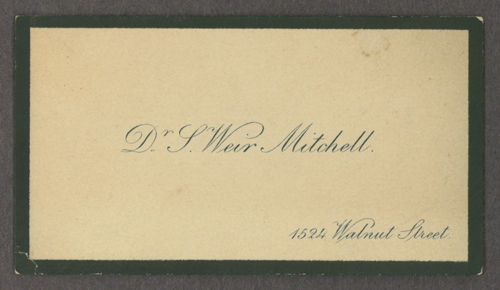 Silas Weir Mitchell papers - 3